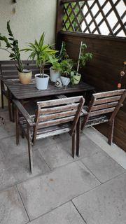 Massivholz Gartenmöbel zu verschenken