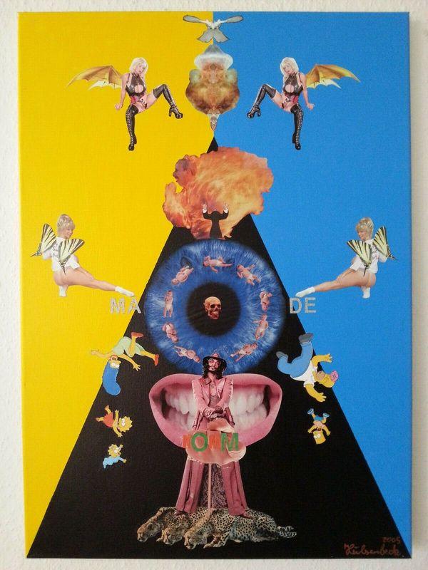 Acryl Collage HÜLSENBECK 50cmX70cm - ansehen