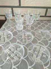 Glas Kristall Likörgläser Untersetzer mini