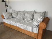 Rattan Schlafcouch - Sofa