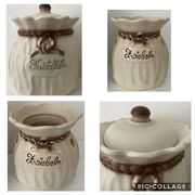 Keramik Behälter Kartoffelsack Zwiebelsack