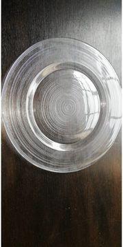 50 Teller Platzteller Glasteller Glas