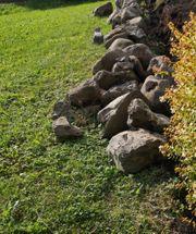 Bachsteine für Garten Mauer
