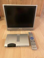 TV mit Receiver und Fernbedienung