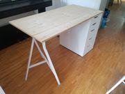 Schreibtisch Arbeitstisch Holz weiß Alex
