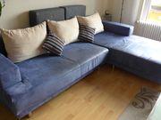 Couch Sofa Wohnlandschaft L blau