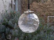 Vintage 70er Jahre Kristallglas Kugellampe