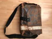 1 Leder-Aktentasche Schultasche