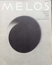Melos Zeitschrift für neue Musik