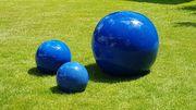 3 Keramikkugeln für den Garten