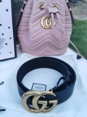 Gucci Gürtel Belt Used-Look Messing