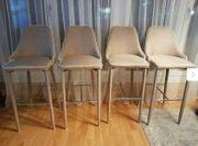 4x Designer Bar Stühle mit