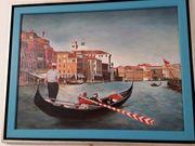 Ölgemälde Venedig handgemalt in einem