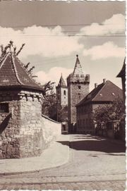 DDR Ansichtskarte Staßfurt Schiefer Turm