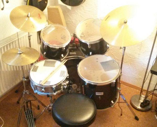 Verkaufe Drumset Black beat CGiant