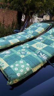 4 Polsterauflagen für Hochlehner - Gartenstühle