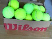 15 gebrauchte Tennisbälle