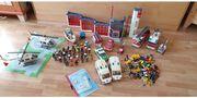 Mega Playmobilsammlung Feuerwehr - Notarzt - Polizei