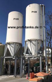 P109 gebrauchtes 50000L Polyestersilo Unterfahrgestell