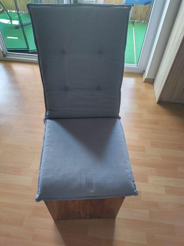 2er Sitzauflage grau