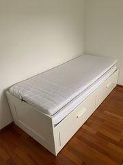 Bett mit Lattenrost 2 Aufbewahrungsschubladen