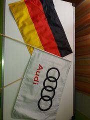 2x Deutschlandfahnen Audi Fanartikel Fahne