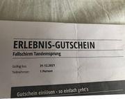 Fallschirm Tandemsprung Jochen Schweizer
