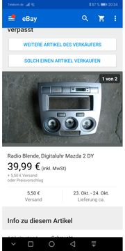 Mazda 2 dy Radioblende