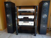 DiscPlayer Receiver DVD-Recorder Lautsprecher Gerätetisch