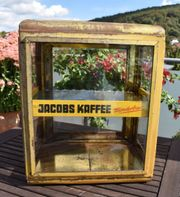 Alte Jacobs Kaffee wunderbar Verkaufsvitrine