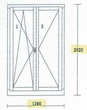 Holz - Alu Balkon Türe