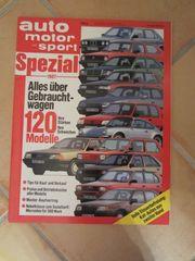 Autozeitschrift Auto Motor und Sport