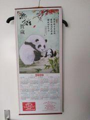 Wandschriftrolle Kalender 2020