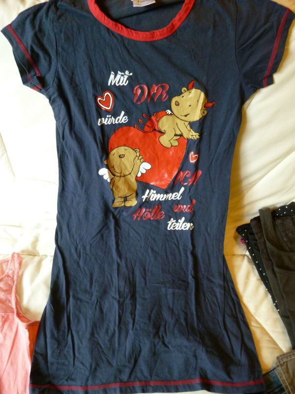 Nachthemd Big Shirt Größe S