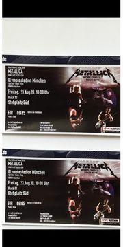 2x Tickets Metallica München Stehplatz