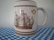 Bierseidel Bierkrug mit Motiv Segelschiff -