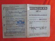 Hercules MP 4 Betriebserlaubnis