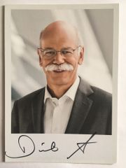 DR DIETER ZETSCHE handsignierte Autogrammkarte