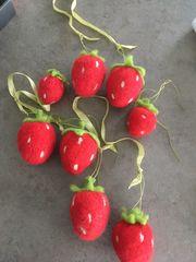 wunderschönen Filz Arbeit Erdbeeren