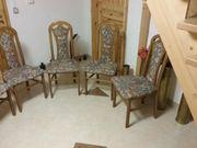 6 Esstisch-Stühle