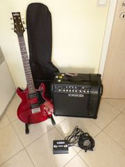Set Gitarre Ibanez Verstärker LINE