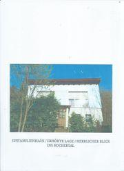 Einfamielienhaus in Waldlage