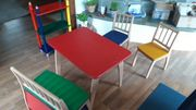 GEUTHER Kindersitzgruppe Tisch Stuhl Bank