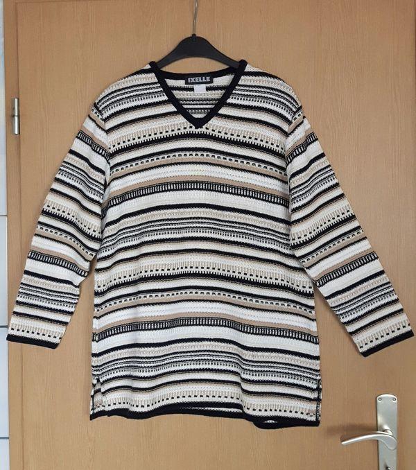 Pullover schwarz creme neu Größe