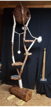 Natur Kratzbaum aus Holz mit