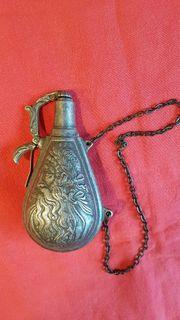 Vintage Pulverbehälter aus Zinn