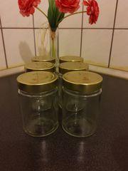 6 Marmeladengläser ca 260 ml