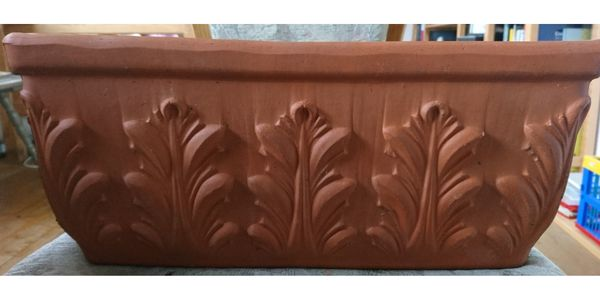 4 Terracotta Blumentöpfe rechteckig Made