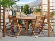 Gartenmöbel Set Akazienholz hellbraun 6-Sitzer