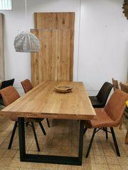 Eiche Massiv Tische mit Baumkante- von -